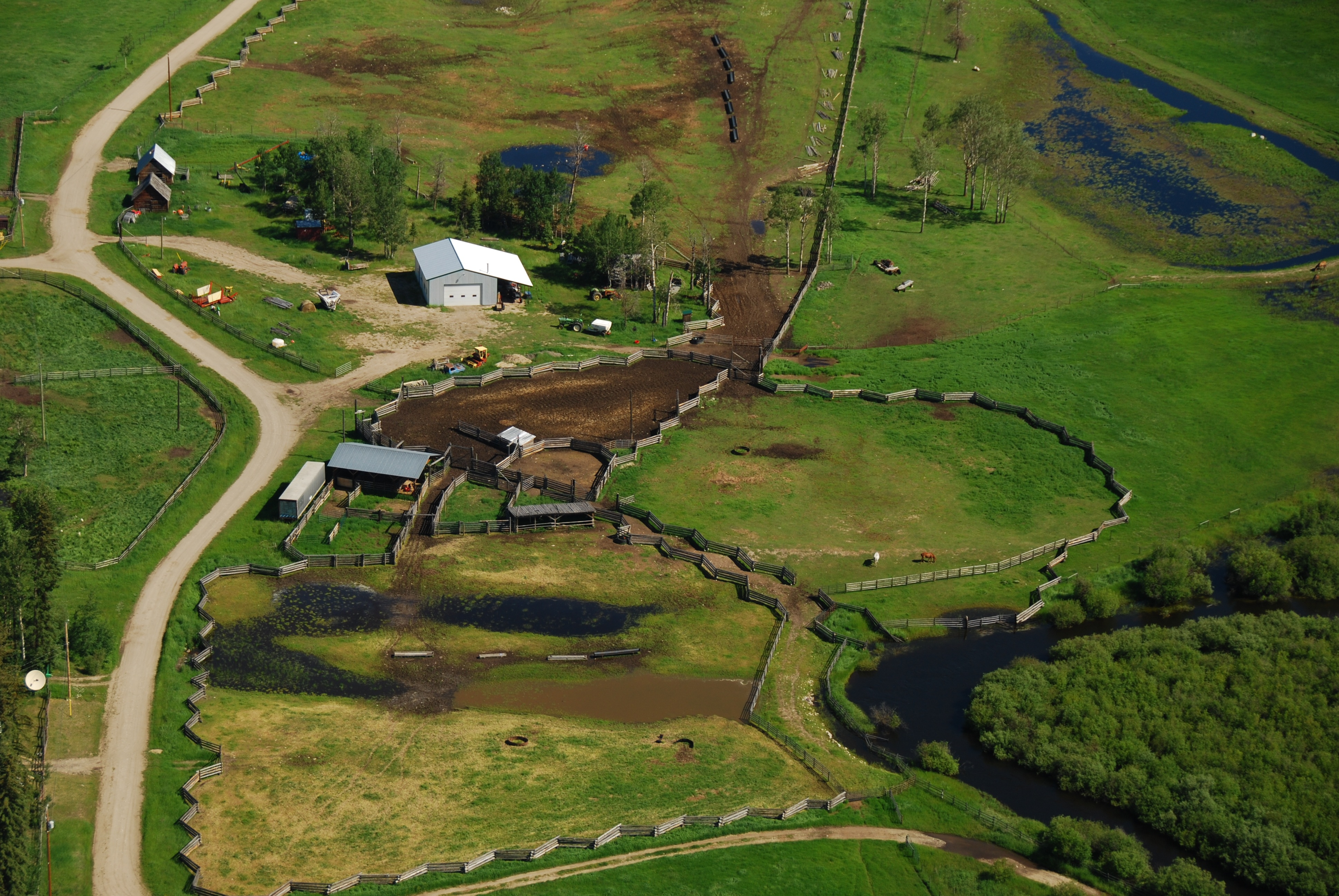Sharpe Lake Ranch > Interlakes Area   548 Acres   190 Acres Productive Hay   Runs 350 head with Range   No Irrigation Required