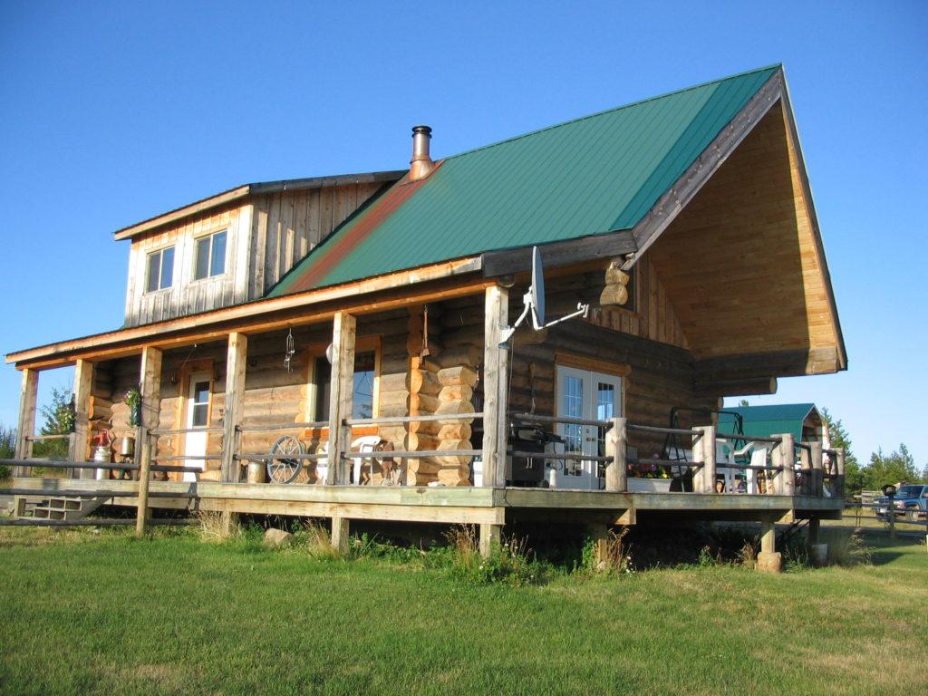 Lazy JR Ranch > Vanderhoof | 160 Acres | Log Home | Riding Arena | Workshop, Log Barn & Greenhouse